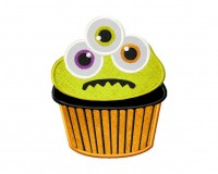 CreepyMonsterCupcakeApplique
