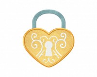 HeartLockApplique