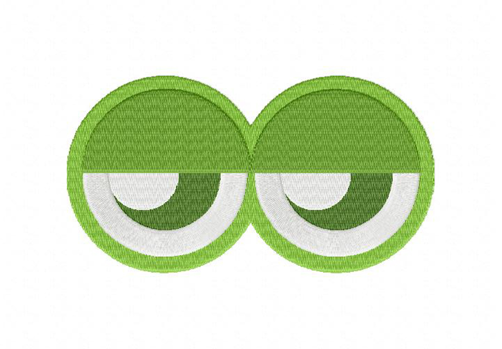 Green monster eyes machine embroidery design daily