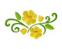 Daffodils-Floral-Spray-Stitched-5_5