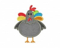 Gray-Rooster-Applique-5x7