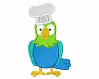 Parrot-Chef-Applique-5x7