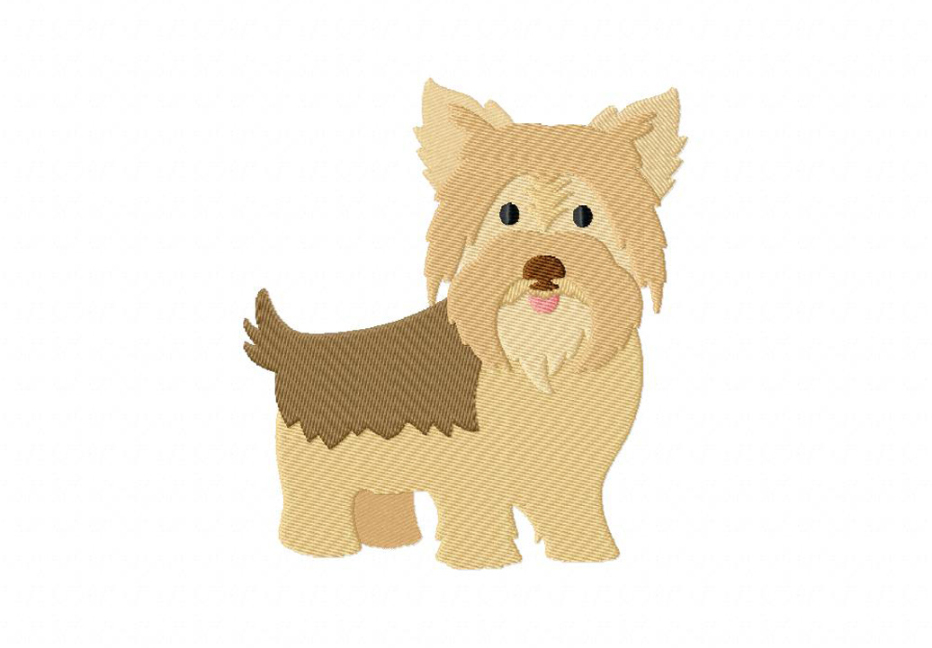 Yorkshire terrier machine embroidery design daily