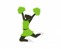 Cheerleader Jumping Silhouette (Z-5_5