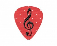 Musical Note Guitar Pick 5_5 in
