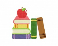 Book Stack With Apple 5_5