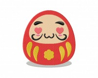 Daruma Doll Hearts Stitched 5_5