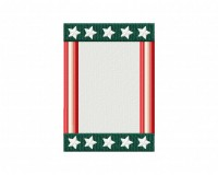 Stars n Stripes Frame Stitched 5_5