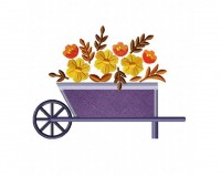 Fall-Flower-Cart-Applique-5x7
