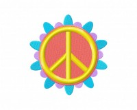 Flower Peace Sign 5_5 in