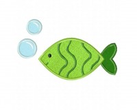 Green-Fish-and-Bubbles-(Z)-Applique-5x7