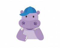 Happy Hippo In Blue Cap 5_5 in