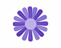 Stitched Purple Flower 5_5