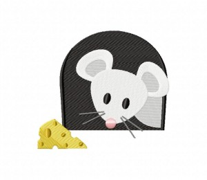 Gray Mouse And Cheese 5_5 in