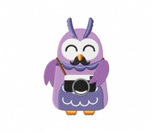 Hippie Owl With Camera 5_5 inch
