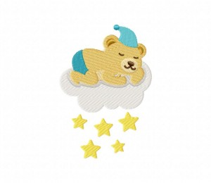 Baby Boy Bear Star  3 5_5 inch