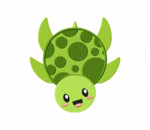 Cute Dotted Sea Turtle 5 5_5 inch
