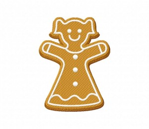 Gingerbread Cookie Girl 5_5 inch