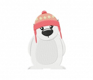 Polar Bear Snow Cap  5_5 inch