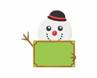 Red Nose Snowman Message 5_5 inch