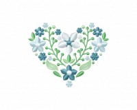 Serene Spring Flower Heart 5_5 in
