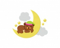 Sleeping Bear on Moon 5_5 inch