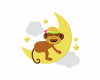 Sleeping Monkey on Moon 5_5 inch