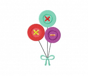 Button Balloons 5_5 inch