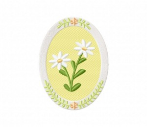 Cameo Flower White Frame Stitched 5_5