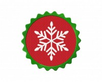 Christmas Snowflake Button 5_5 inch