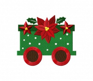 Christmas Train Poinsettia 5_5 inch
