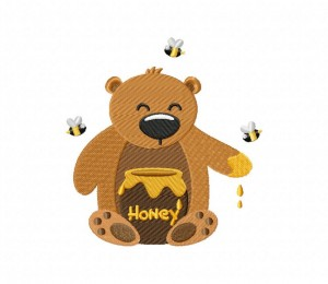 Honey Bear Yum Stitched 5_5