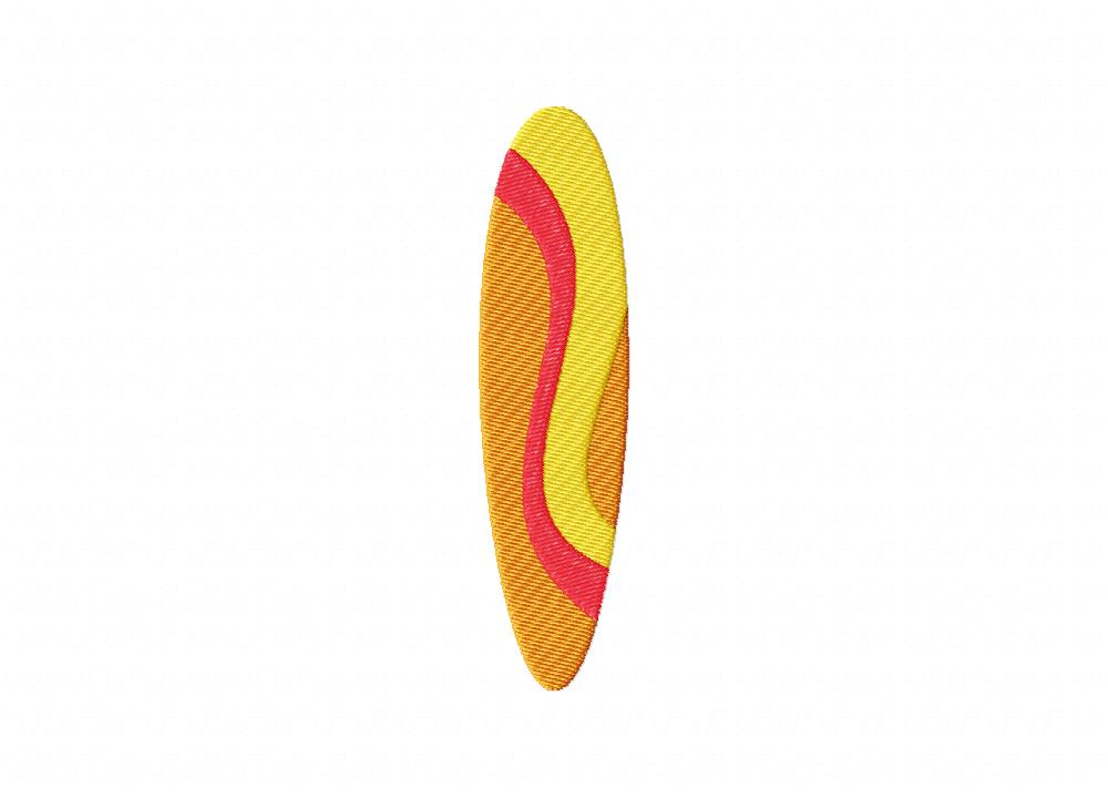 Summer surfboard wave includes both applique and stitched u daily