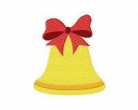 Christmas Red Ribbon Bell 5_5 inch