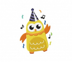 Dancing New Year Owl 5_5 inch