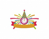 Midnight Celebration New Year Banner 5_5 inch