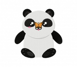 Panda And Butterfly 5_5 inch