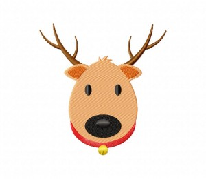 ReindeerFaceReindeer Face Stitched 5_5 inch