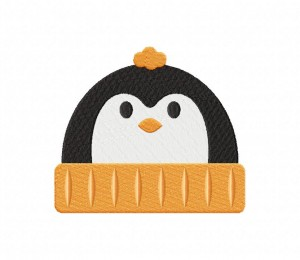 Penguin Beanie Stitched 5_5 Inch