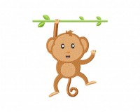 Single Handed Monkey On Branch 5_5 inch