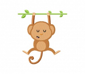 Sleeping Monkey On Branch 5_5 inch