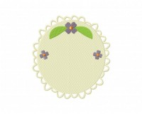 Floral Decorative Classic Frame Round Stitched 5_5