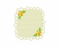 Floral Decorative Classic Frame Square Stitched 5_5