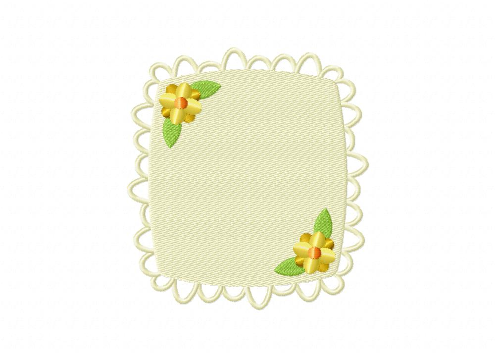 Floral decorative classic frame square includes both