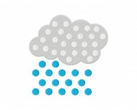 Polka Dot Rain Cloud Stitched 5_5