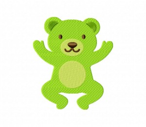 Rainbow Bear Green 5_5 inch