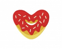 Red Heart Valentine Donut 5_5 inch