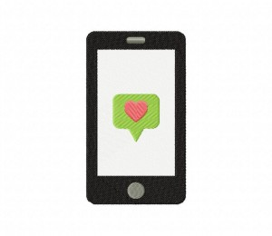 Smart Phone Heart Stitched 5_5