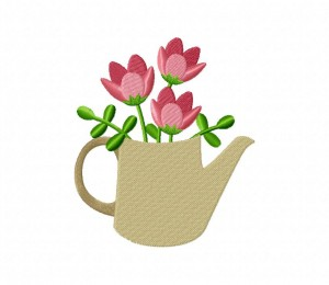 Teapot Tulips Stitched 5_5