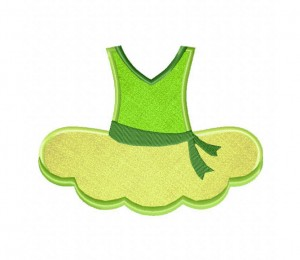 Ballet-Tutu-Green-(Z)-Applique-5x7